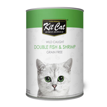Kit Cat Wild Caught Double Fish & Shrimp (400g)