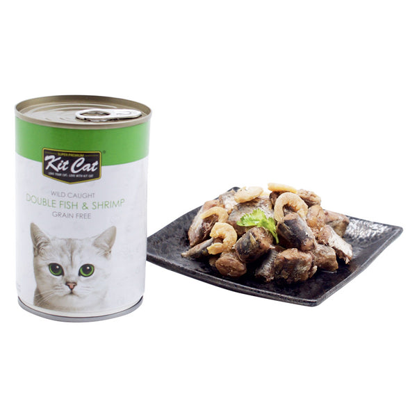 Kit Cat Wild Caught Double Fish & Shrimp (400g) (4597820653621)