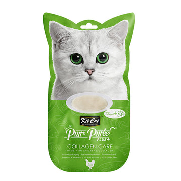 Kit Cat Purr Puree Plus+ Chicken & Collagen Care