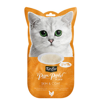 Kit Cat Purr Puree Plus+ Chicken & Fish Oil (Skin & Coat)