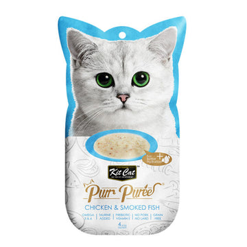 Kit Cat Purr Puree Chicken & Smoked Fish