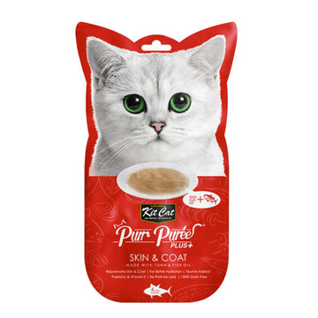 Kit Cat Purr Puree Plus+ Tuna & Fish Oil (Skin & Coat)
