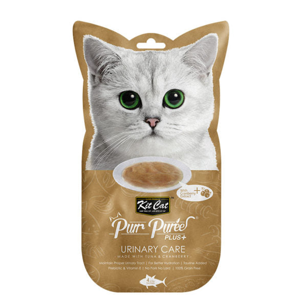 Kit Cat Purr Puree Plus+ Tuna & Cranberry (Urinary Care) (4598431416373)