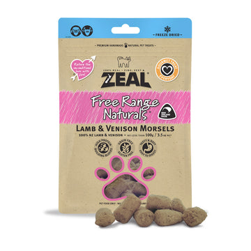 Zeal Dried Lamb & Venison Morsels (Cat) 100g