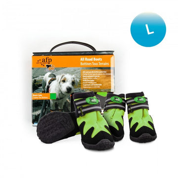OUTDOOR DOG SHOES - GREEN / L