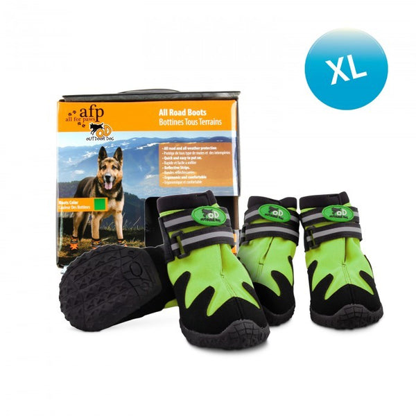 OUTDOOR DOG SHOES - GREEN / XL (4603458519093)
