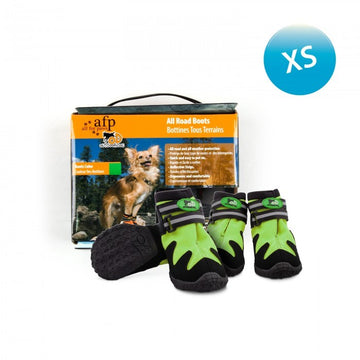 OUTDOOR DOG SHOES - GREEN / XS