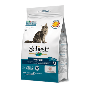 SCHESIR CAT DRY FOOD HAIRBALL (1.5KG)