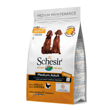 Schesir Medium Adult Maintenance with Chicken For Dog