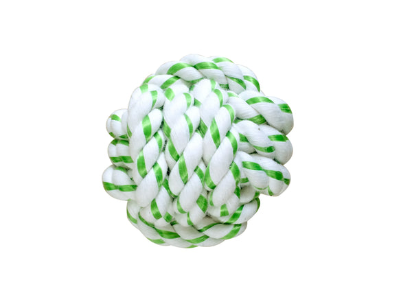 DENTAL ROPE BALL - GREEN 8 CM (4605524672565)