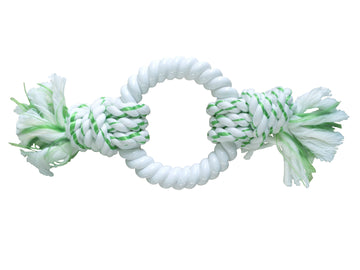 DENTAL ROPE WITH NYLON RING - GREEN