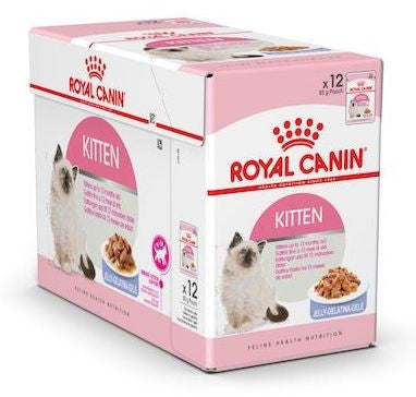 FELINE HEALTH NUTRITION KITTEN JELLY (WET FOOD - 12 POUCHES)