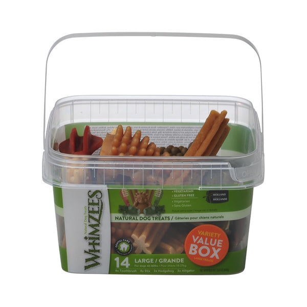 Whimzees Variety Value Box Large 14 pcs (4606112038965)