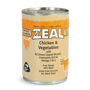 Zeal – Chicken & Vegetables (390g)