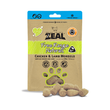 Zeal Free Range Naturals Chicken and Lamb Morsels 100g