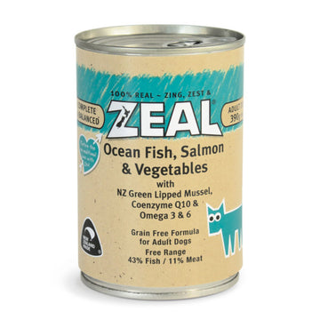 Zeal – Ocean Fish, Salmon & Vegetables (390g)