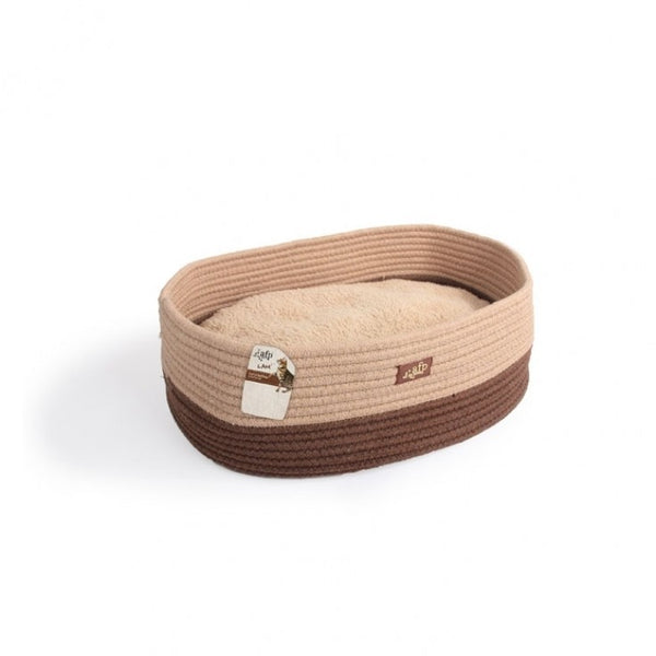 OVAL ROPE CAT BED- TAN (4611997728821)