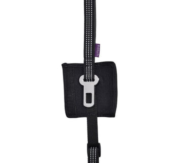 CAR LEASH 2 IN 1 - BLACK