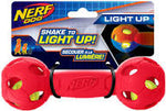 LED BASH BARBELL BLUE/RED - MEDIUM (4603647787061)