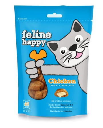 Feline Happy Cat Treats Chicken (60g)