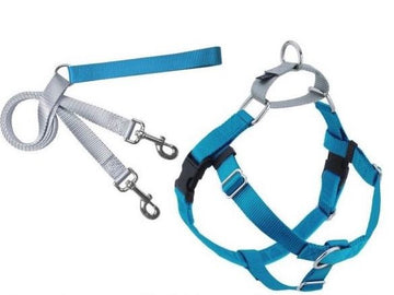 FREEDOM NO-PULL HARNESS AND LEASH - TURQUOISE /  1""