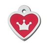 ID Tag - Heart Epoxy Red Crown (4605506158645)