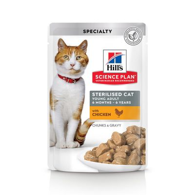 Science Plan Sterilised Cat Young Adult Cat Wet Food With Chicken Pouch (4631634935861)