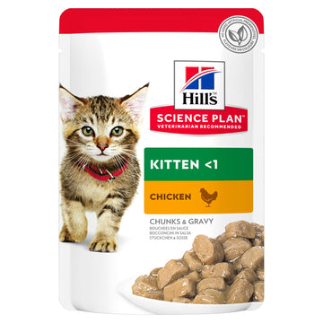 Science Plan Tender Chunks In Gravy Kitten Chicken - 12 Pouches
