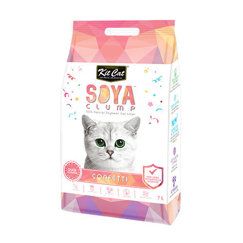 Kit Cat Soya Clump Soybean Litter – Confetti 7L (4601199919157)