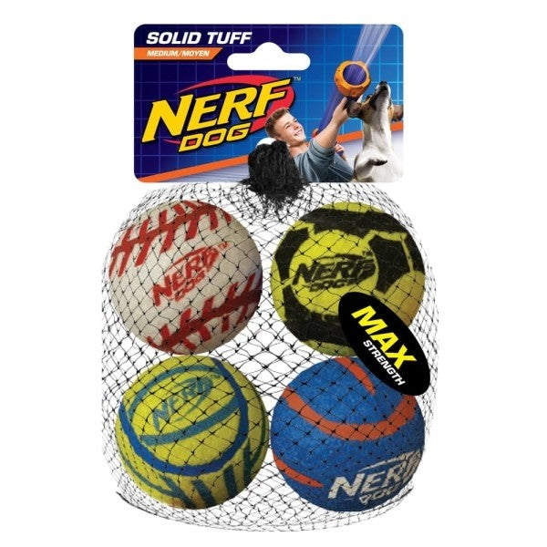 SOLID TUFF SPORTS BALLS MEDIUM (PACK OF 4) (4603475132469)