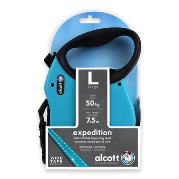 EXPEDITION RETRACTABLE LEASH, 7,5 M - LARGE - BLUE