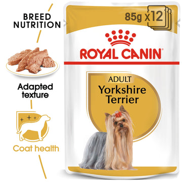BREED HEALTH NUTRITION YORKSHIRE ADULT (WET FOOD - 12 POUCHES)