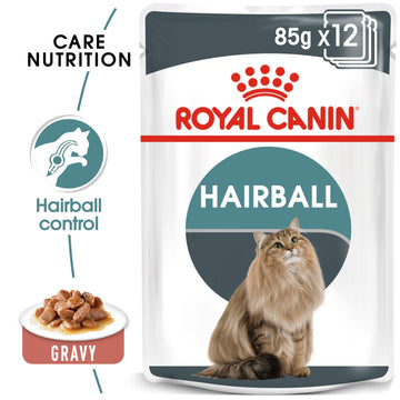 FELINE CARE NUTRITION HAIRBALL GRAVY (WET FOOD - 12 POUCHES)