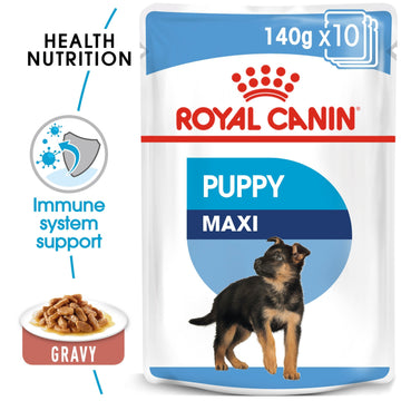 SIZE HEALTH NUTRITION MAXI PUPPY (WET FOOD - 12 POUCHES)