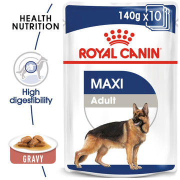 SIZE HEALTH NUTRITION MAXI ADULT (WET FOOD -12 POUCHES)