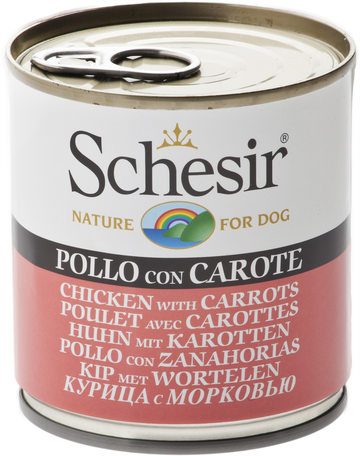 SCHESIR DOG CAN -CHICKEN WITH CARROTS (285Gg)