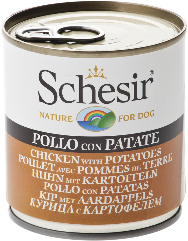 SCHESIR DOG CAN -CHICKEN WITH POTATOES (285g) (4601163317301)