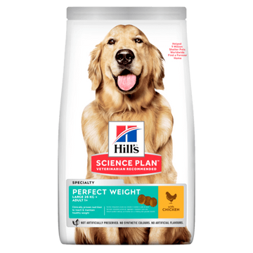 Science Plan Perfect Weight Large Breed Adult Dog Food With Chicken (12kg)