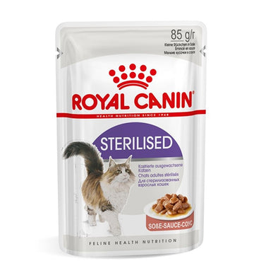 FELINE HEALTH NUTRITION STERILISED GRAVY -POUCHE
