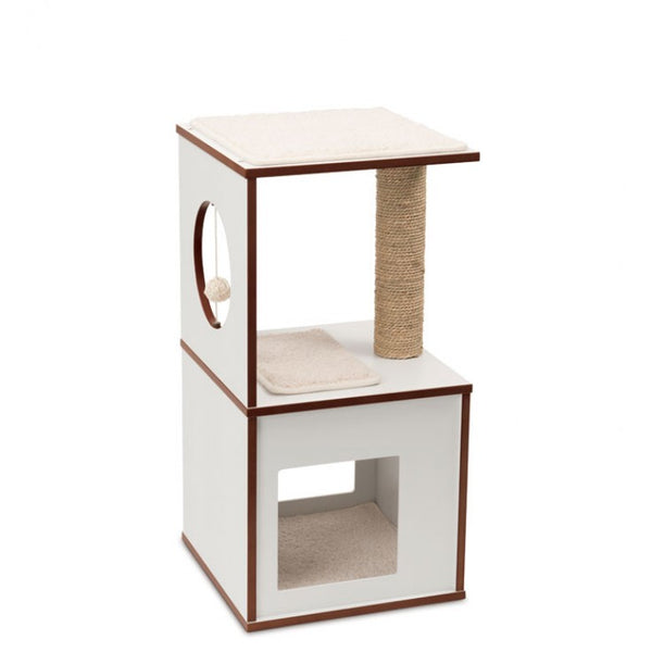 PREMIUM CAT FURNITURE V-BOX SMALL - WHITE (4605530472501)