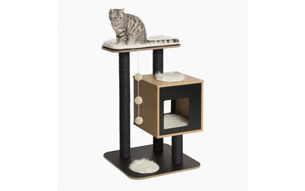 PREMIUM CAT FURNITURE V-BASE - BLACK (4605525721141)