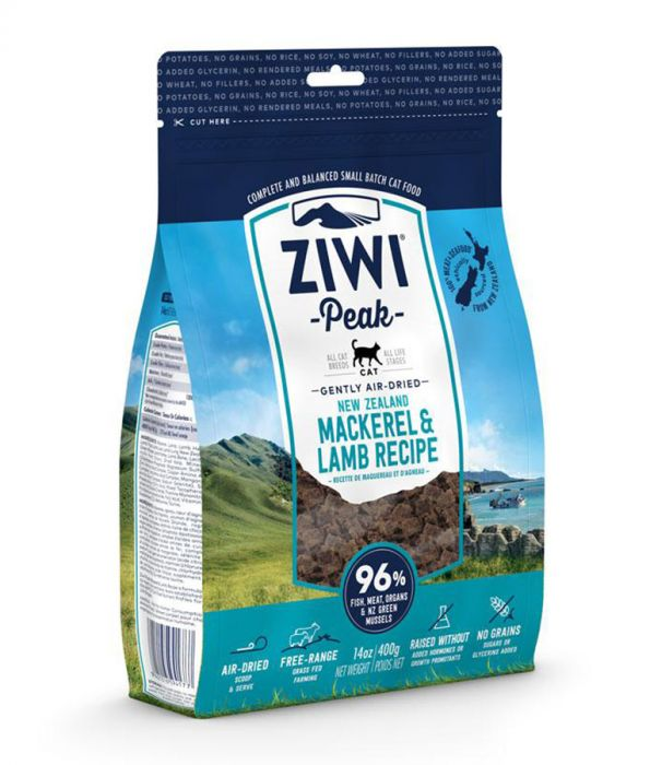 ZiwiPeak Air Dried Mackerel & Lamb Recipe Cat Food (1 Kg) (4595907821621)