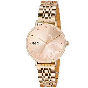 Gedi Light Swan Gold Luxury Watch For Women & Girls