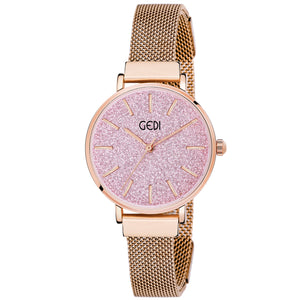 Gedi Blush Elegance Classy Infinitely Adjustable Chain Luxury Watch For Women & Girls