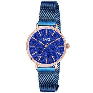 Gedi Blue Elegance Classy Infinitely Adjustable Chain Luxury Watch For Women & Girls
