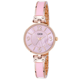 Gedi Leader's Choice Classy & Bold Pink Dial Luxury Watch For Women & Girls