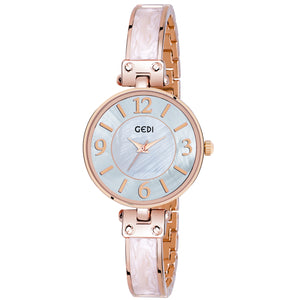 Gedi Leader's Choice Classy & Bold Blush Dial Luxury Watch For Women & Girls