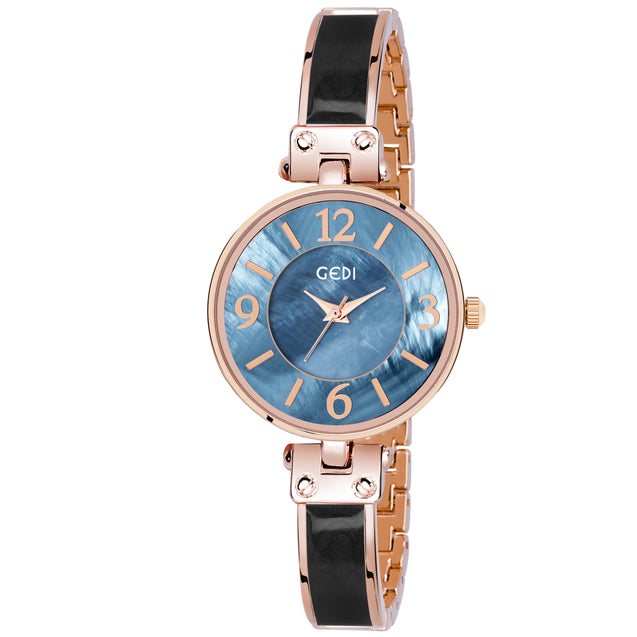 Gedi Leader's Choice Classy & Bold Blue Dial Luxury Watch For Women & Girls