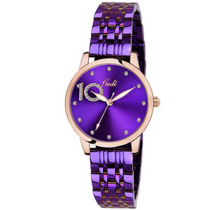 Gedi 10 Times Better Classy Studded Blue Luxury Watch For Women & Girls