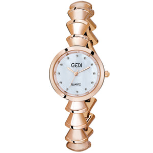 Gedi Bespoke & Unique Rose Gold Luxury Watch For Women & Girls